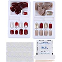 Beaupretty 60pcs False Nails Coffin Nail Tips Fake French Nail Detachable Nail Sticker Reusable Manicure Decal for Home…
