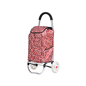 Amazon.com: TYUIO - Bolsa de la compra plegable con ruedas ...