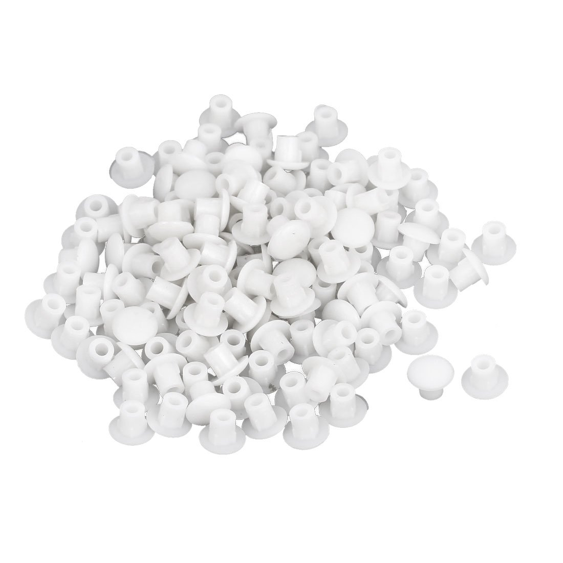 Furniture Plastic 5mm Hole Drilling Cover Plugs Insert 130pcs White uxcell a15081900ux0053