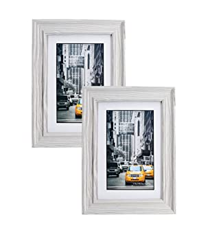 Amazoncom Marble Gray Wood Picture Frame 5x7 2pc Photo Display