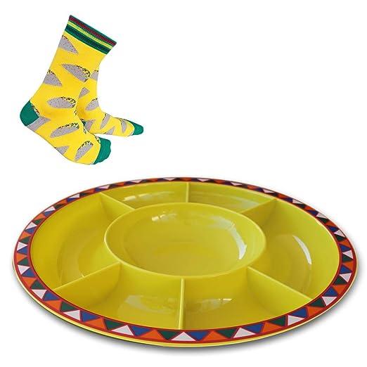 Bandeja grande dividida para servir para fiestas, plato para ...
