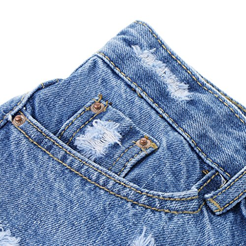 Style bleu Stretch Jeans Baoblaze Denim s Brillant Extensible xl Mini Jupe en clair Femmes 1qIr7q80