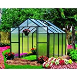 Monticello MONT-8-BK Greenhouse, 8′ x 8′, Black Review
