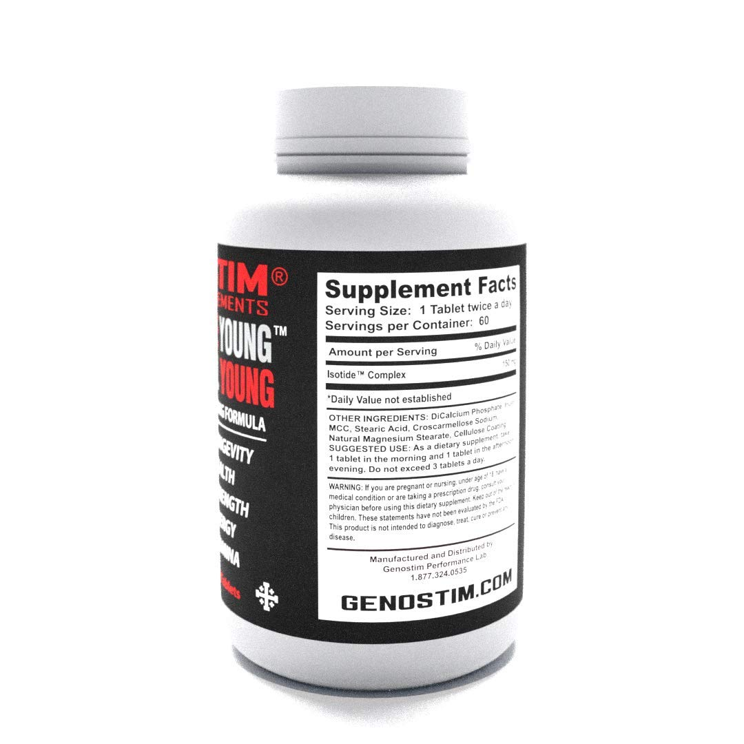 GENOSTIM PRO – Anti-Aging Protein Peptide Supplement – Stimulates Hormonal Balance for Accelerated Healing and Cellular Rejuvenation