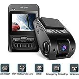 "1080P Car Camera - 2.3"" LCD Screen FHD Car Dash Cam with Sony Image Sensor, Super HD Night Vision Car DVR, 150 Degree Wide-Angle WDR Lens, HDR, G-Sensor, Loop Recording, Novatek NT96655 Chip."