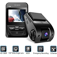 "1080P Car Camera - 2.3"" LCD Screen FHD Car Dash Cam with Sony Image Sensor, Super HD Night Vision Car DVR, 150 Degree Wide-Angle WDR Lens, HDR, G-Sensor, Loop Recording, Novatek NT96655 Chip."