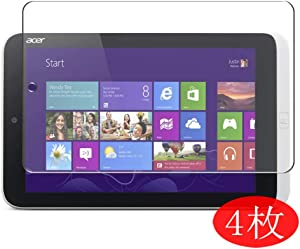 """【4 Pack】 Synvy Screen Protector for Acer ICONIA W3-810 8.1"""" Tablet Tab TPU Flexible HD Clear Case-Friendly Film Protective Protectors [Not Tempered Glass] New Version"""