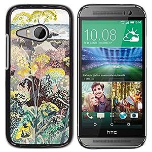 Estuche Cubierta Shell Smartphone estuche protector duro para el teléfono móvil Caso HTC ONE MINI 2 / M8 MINI / CECELL Phone case / / Flowers Plants Painting Art /