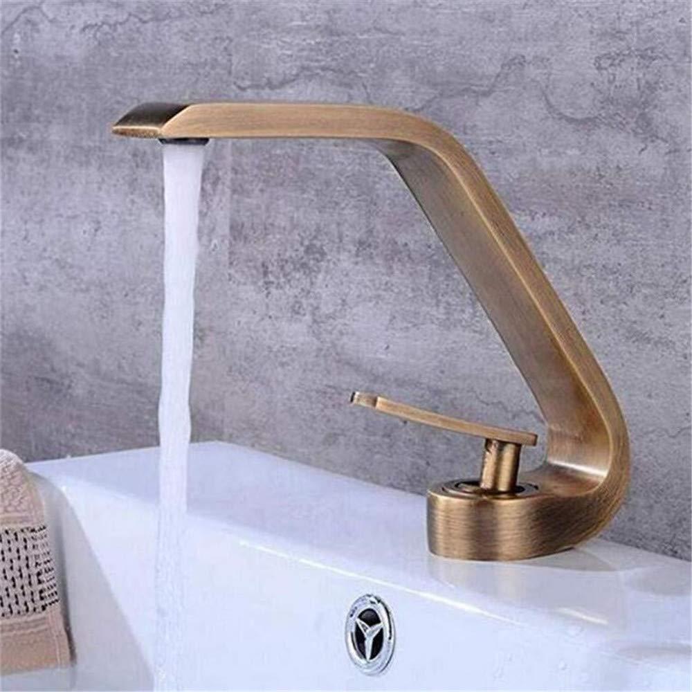 Wasserhahn Heißes und kaltes Wasser Messing Chrom Wasserhahn Waschbecken Wasserhahn Bad Waschbecken Wasserhahn Unter Aufsatzbecken