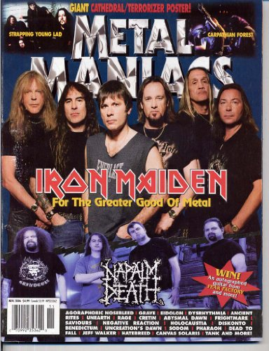 Metal Maniacs Magazine IRON MAIDEN Napalm Death CATHEDRAL Carpathian Forest TERRORIZER Strapping Young Lad GIANT POSTERS November 2006 C