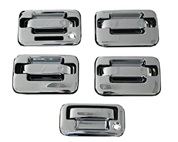 Ford F150 Chrome Door Handles Tailgate Covers 2004-2010 driver side with keypad pass  sc 1 st  Amazon.com & Amazon.com: Ford F150 Chrome Door Handles Tailgate Covers 2004-2010 ...