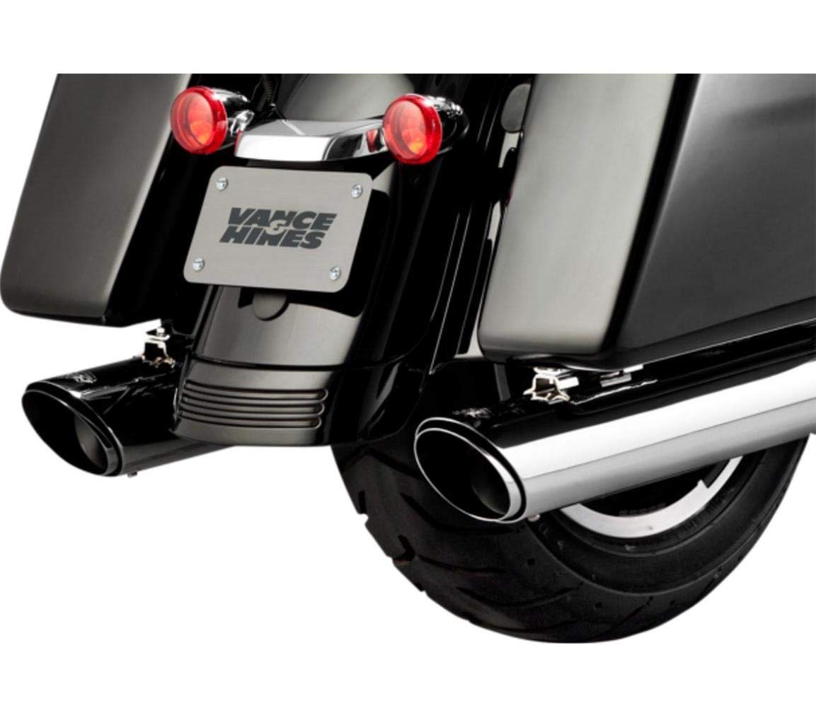 5. Vance and Hines 16672 Twin Slash Round 4in. Chrome Slip-On Exhaust for Harley Davidson touring-2017 and 2018 Models ONLY
