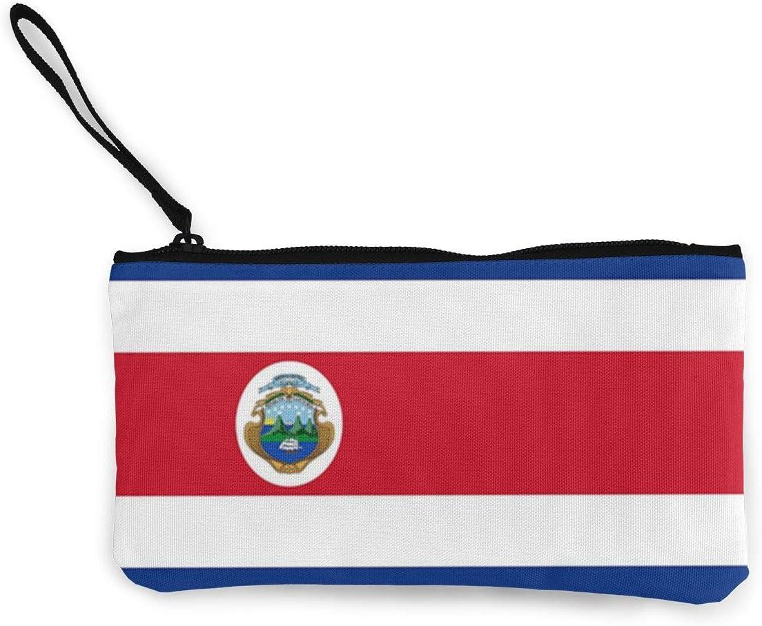 Purse,Bandera De Costa Rica Bandera De Poliéster Cambio De Lona Monedero En Efectivo, Monederos Decorativos para Viajes De Negocios De Fiesta,22(L) x12(W) cm