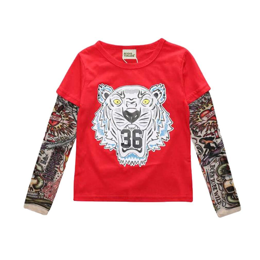 Yying Boy Tattoo Tshirt Camiseta Ni/ños Dibujos Animados Ni/ños Ni/ños Camiseta Ropa para Ni/ños Ropa para Beb/és Camisetas para Ni/ños