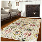 bright colored area rugs - Superior 10mm Pile Height with Jute Backing, Durable, Fashionable and Easy Maintenance, Alyzia Collection Area Rug, 5' x 8'
