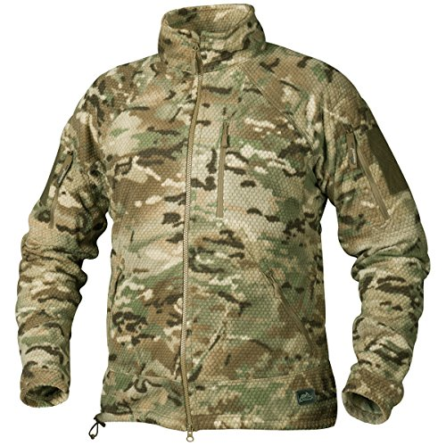 - Helikon Men's Alpha Tactical Jacket Grid Fleece Camogrom Size L