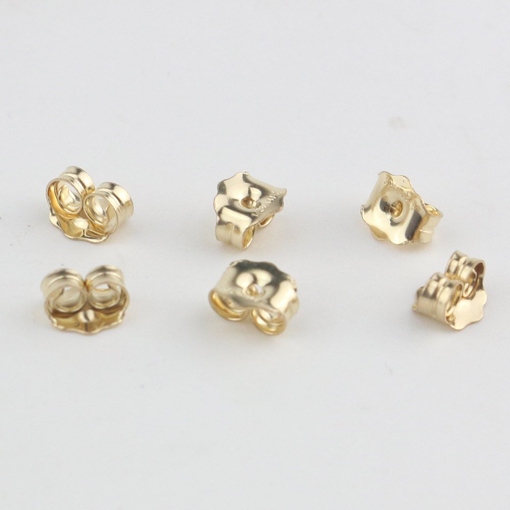 3 Pairs Orgrimmar 14K Gold Earring Back Yellow Ear Locking