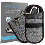 Upgraded Faraday Bag for Key Fob (2 Pack), TICONN