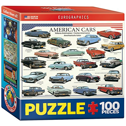 EuroGraphics American Cars of The Fifties Mini Puzzle (100-Piece)