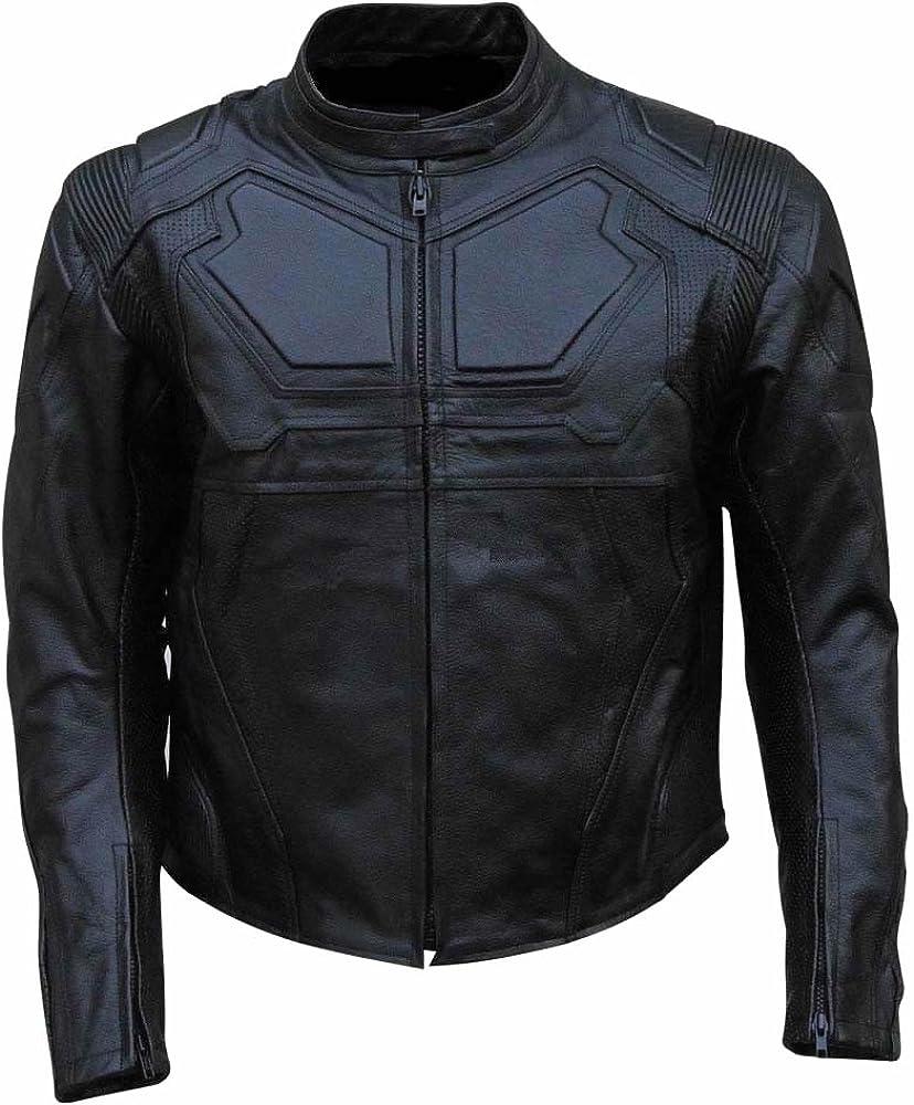 Classyak - Chaqueta de motociclista de piel auténtica para hombre.: Amazon.es: Ropa y accesorios