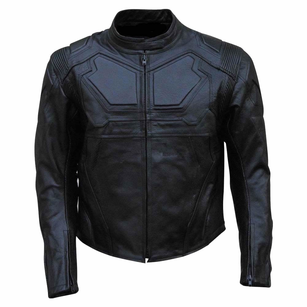 coolhides Mens Oblivion Real Leather Motorcycle Jacket