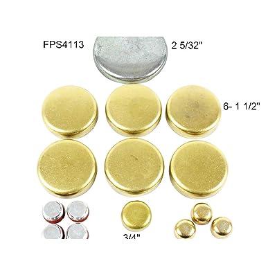 DNJ FPS4113 Brass Freeze Plug Set for 1962-2001 / Ford, Lincoln, Mercury / 4.3L, 4.7L, 5.0L, 5.8L / V8 / 16V / OHV / 260cid, 289cid, 302cid, 351cid / [Windsor]Note Brass Freeze Plugs: Automotive