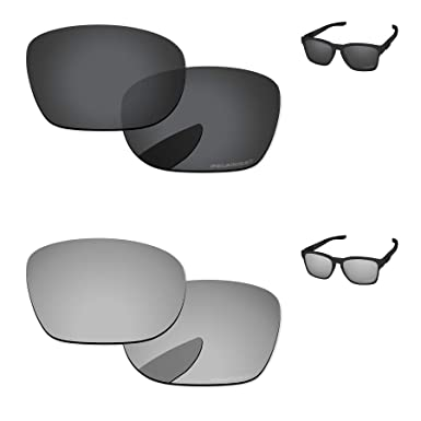 81ddc69a4c2 PapaViva Lenses Replacement for Oakley Catalyst Black Grey   Chrome Silver