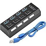 Hub USB 3.0 com 4 portas com Led Indicador e Botão On/Off - Suporta HD até 1TB