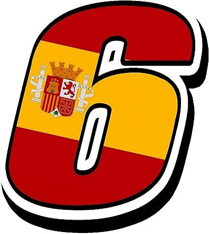 Biomar Labs® Número 6 Bandera Nacional España Spain Calavera ...
