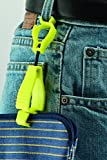 Glove Guard Clip, Safety Breakaway Belt Loop Attachment (1939HVYW) High Visability Neon Yellow 4.5