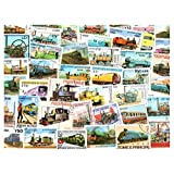 Locomotives Trains Railway & Railroad : 50 Different Stamps Collection Mixture Packet Stamps for Collectors