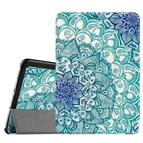 Fintie Samsung Galaxy Tab S2 8.0 Case - Ultra Lightweight Protective Slim Shell Stand Cover with Auto Sleep/Wake Feature for Samsung Galaxy Tab S2 / S2 Nook 8.0 Inch Tablet, Emerald Illusions