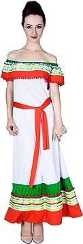 SEA HARE Disfraz de Disfraces española para Mujer Disfraz de Mexicana: Amazon.es: Juguetes y juegos