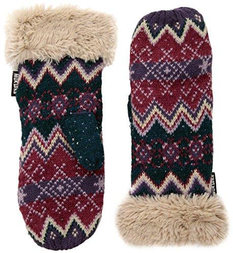 Muk Luks Women's Winter Mittens, pink, One Size