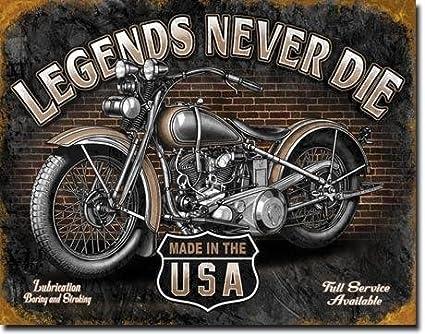 Cartel de Chapa Legends Never Die Original U.S.A. Cartel de ...