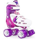 SFR Storm II Kids Adjustable Roller Skates White/Purple/Pink