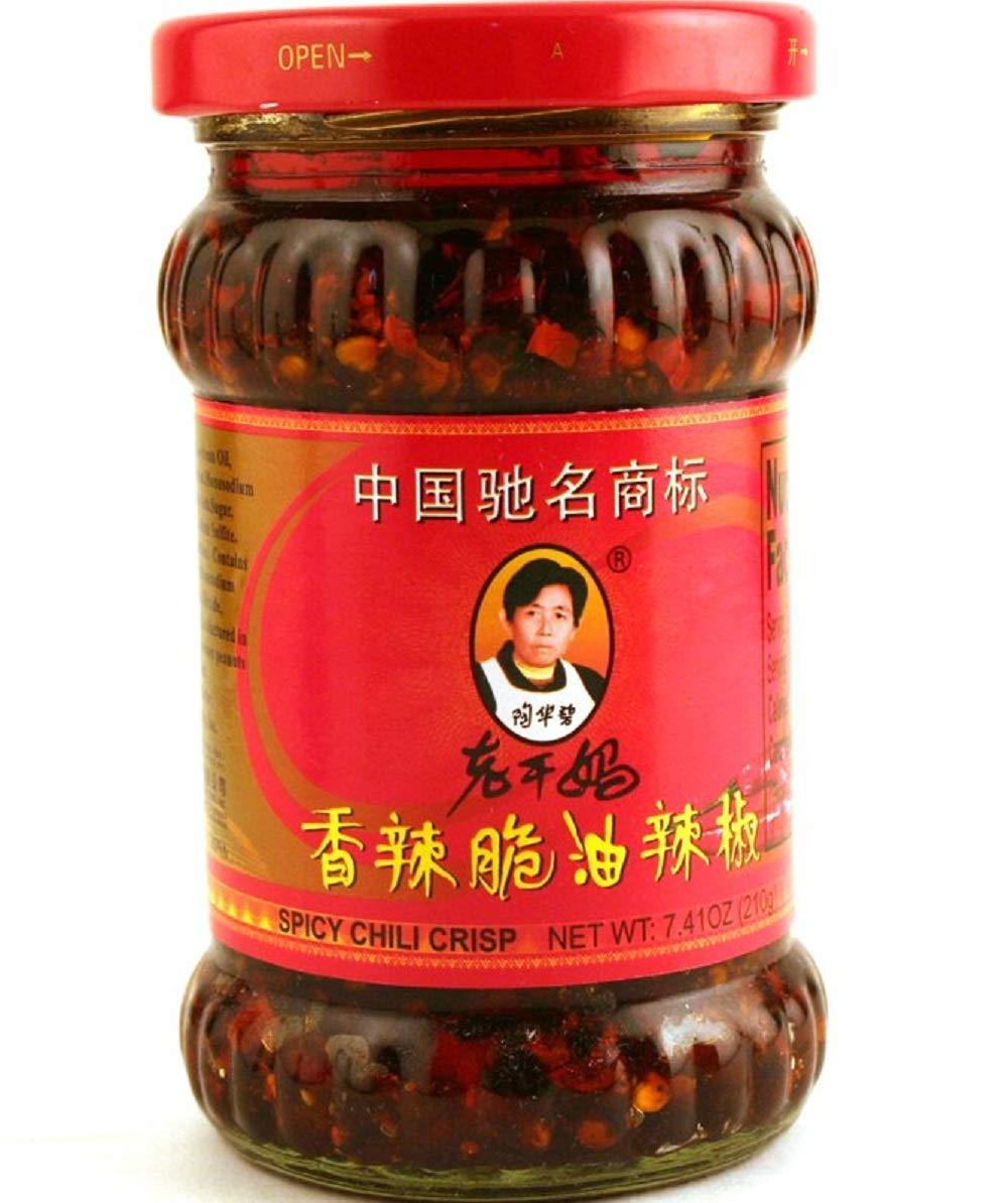 Laoganma (Lao Gan Ma) Spicy Chili Crisp Sauce (Chili Oil Sauce) Xiang La Cui 7.41 Fl Oz (Pack Of 2)