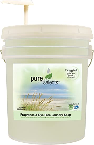 Pure Selects Fragrance & Dye Free Laundry Soap • All Natural • HE • 640 Loads