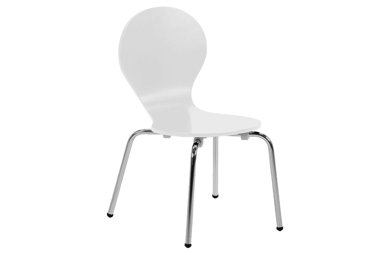 AC Design Furniture 6104 Kindertisch, Holz, weiß, 60 x 60 x 50 cm weiß 82198