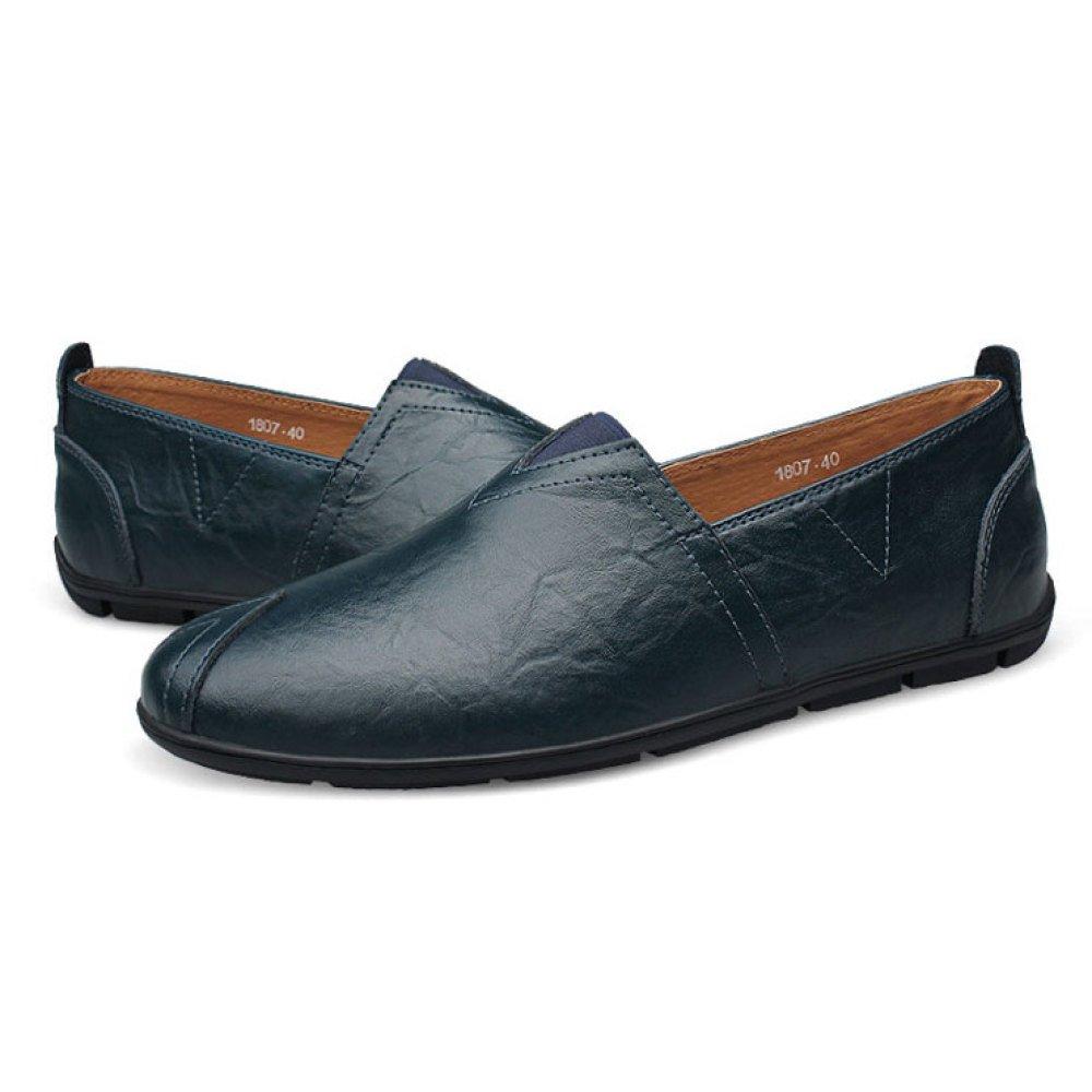 Herren Peas Schuhe Schuhe Casual Schuhe Mode Faule Schuhe Schuhe Blau b390e3