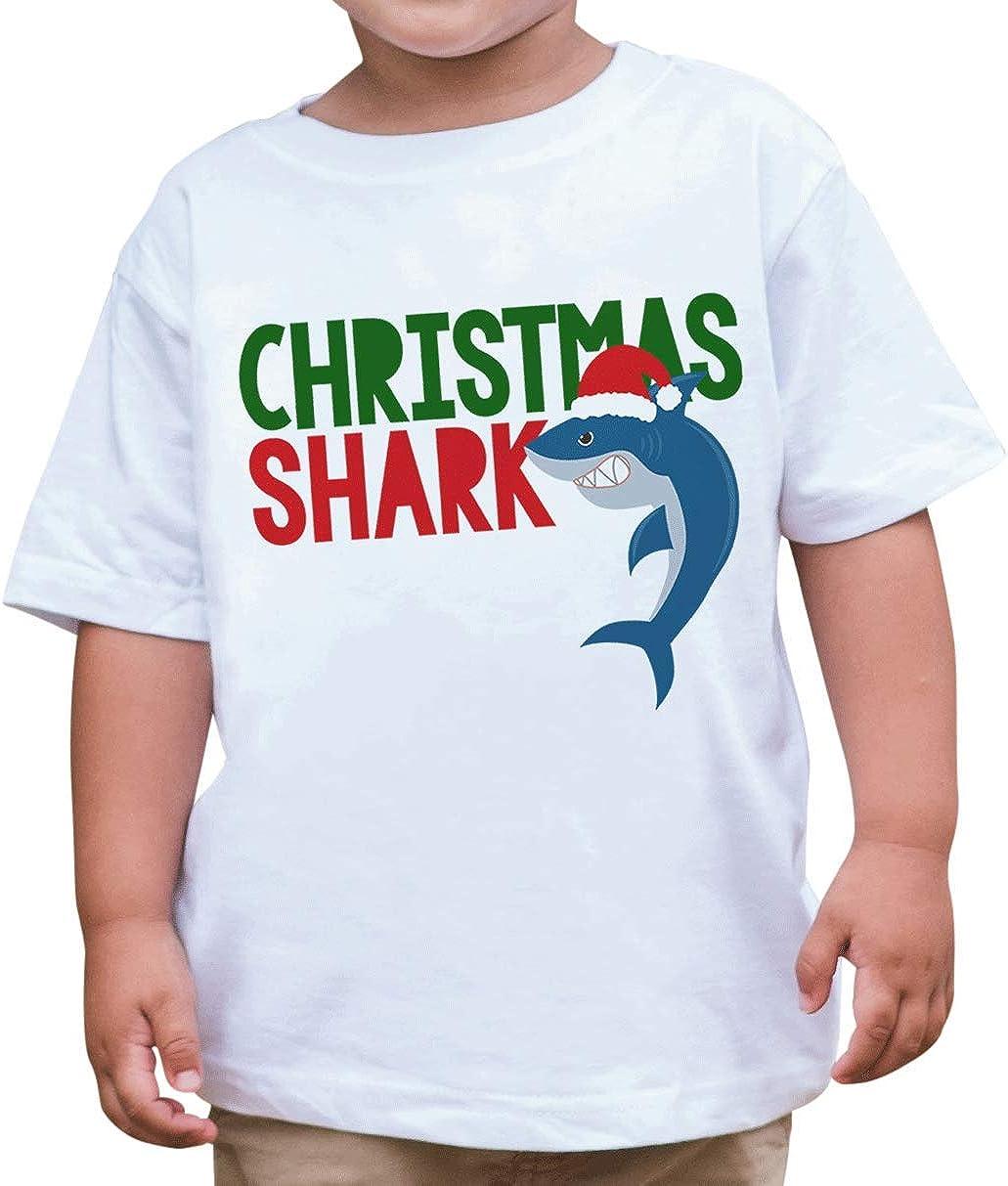 7 ate 9 Apparel Kids Shark Christmas T-Shirt