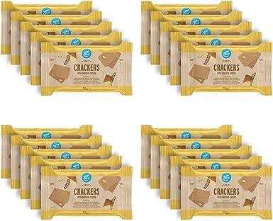 Marca Amazon – Happy Belly – Galletas de espelta con queso gruyer, 4 x 190 g: Amazon.es: Alimentación y bebidas