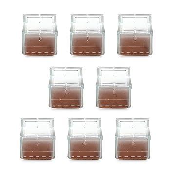 WINOMO 8pcs Silicone Embouts De Protection Pour Pieds Chaise Transparent