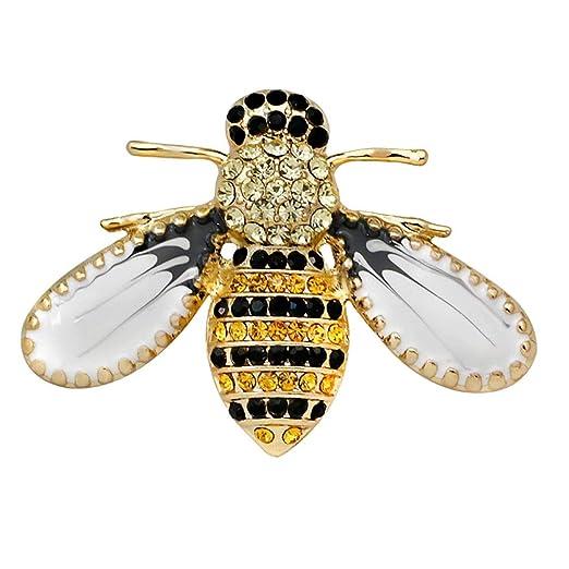 Lindo broche de abeja, broche de material de aleación, elegante y ...