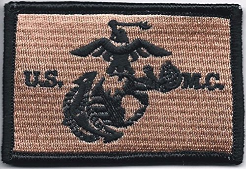 - Ovedcray Embroidery Patch 2pcs Usmc Us Marine Corps Marines Desert Black Eagle Globe Anchor Ega Patch
