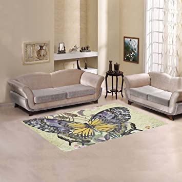 JC Dress Area Rug Butterfly Modern Carpet ...