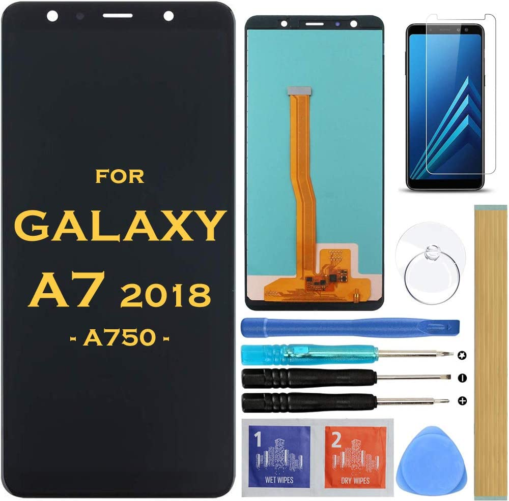Screen Replacement LCD Display Touch Digitizer Assembly for Samsung Galaxy A7 2018 SM-A750 A750F A750FN A750N A750G A750GN/DS 6.0