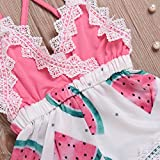 8c28a66246b 2018 Summer Toddler Baby Girl Clothes Cute Watermelon Print Lace Trim  Backless Romper Shorts Jumpsuit (Pink