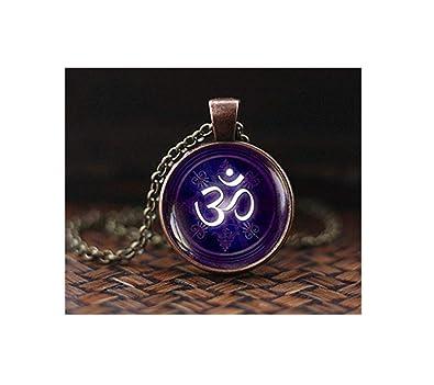 Collar con símbolo de yoga, meditación colgante, regalo de ...