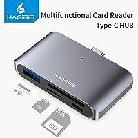 INICIO Hagibis USB-C OTG USB 3.0 Hub with 2 Slot [ SD TF Micro SD ] Card Reader, USB-A Interface Micro USB Port High Speed Data for Type C MacBook OnePlus 7 Galaxy S10 iPad Pro 2018